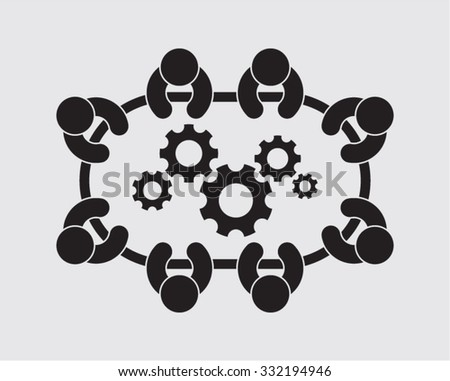 Business Meeting Startup Connection Innovation - stock vector