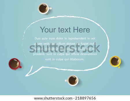 Business Meeting with coffee cup Easy to Edit , adjust color and size.  Shadow are made with transparency set to Multiply. - stock vector
