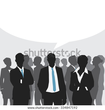 Business meeting with speech bubble. - stock vector