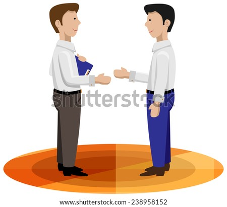Business men shaking hands good for loan contract, customer service, salesman - stock vector