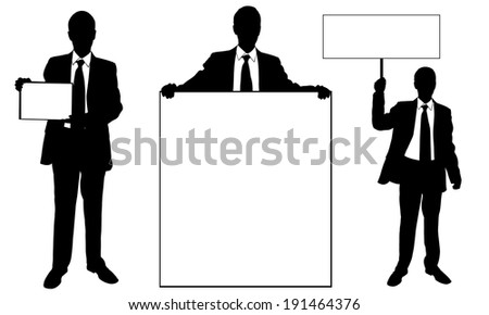 business men showing signs - stock vector