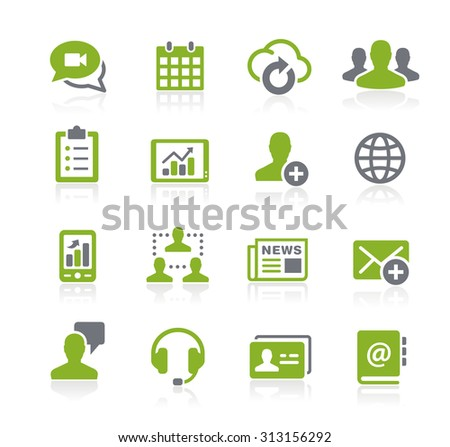 Business Network Icons // Natura Series - stock vector