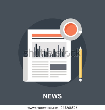 Business News - stock vector
