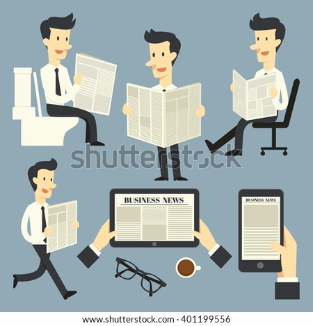 Business news - stock vector