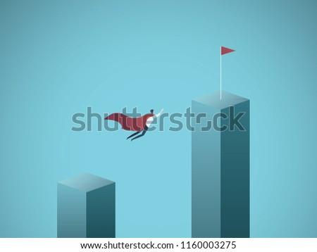 Business Objective Leadership Vector Concept Businessman Stock