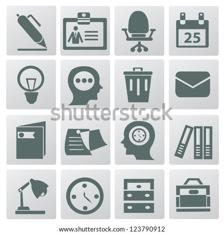 Business & office icons,vector - stock vector
