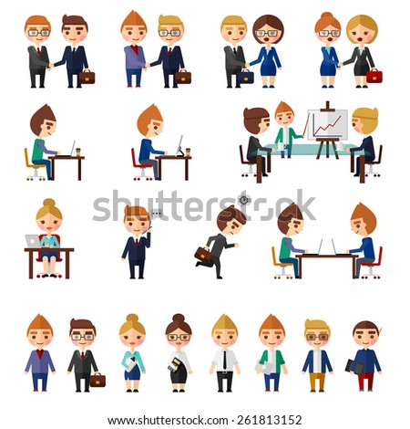 Business office people set. - stock vector