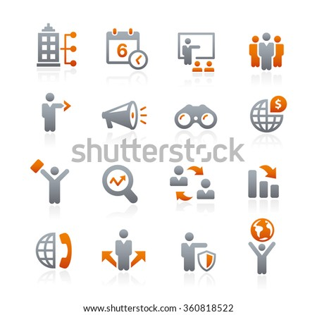 Business Opportunities Icons // Graphite Series - stock vector