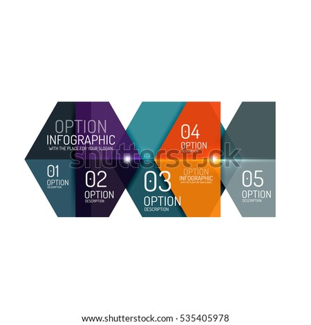Business option diagram templates geometric shapes stock photo business option diagram templates geometric shapes with options elements for business background numbered banners ccuart Gallery