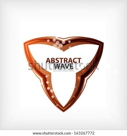 Business orange wavy business symbol - stock vector
