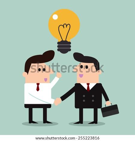 business partners handshaking   - stock vector