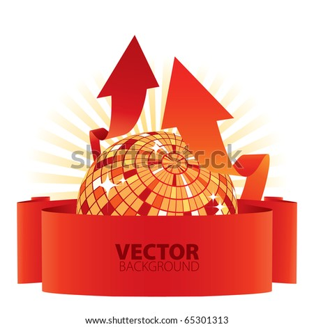 business party vector background with arrows - stock vector