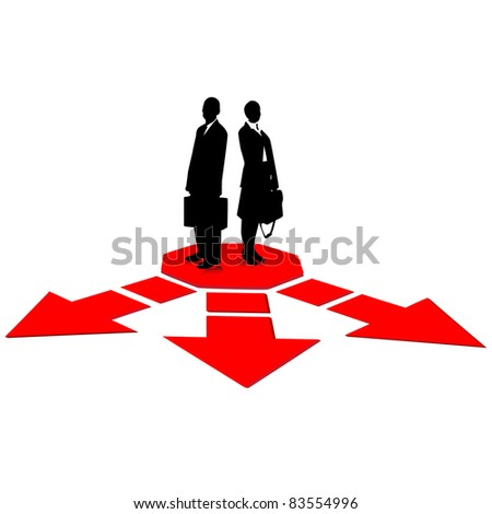 Business path selection.Vector - stock vector