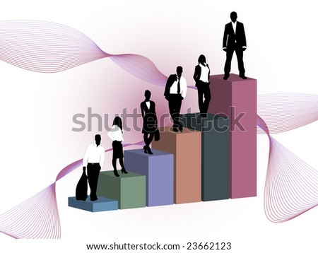 business people and graph