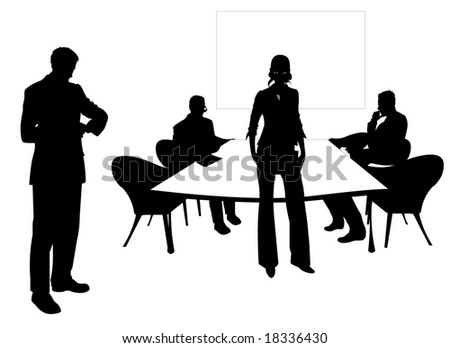 Business people at the meeting room - stock vector
