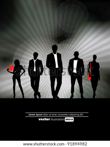 Business people background - stock vector