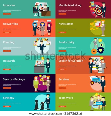 Business People Banner - stock vector