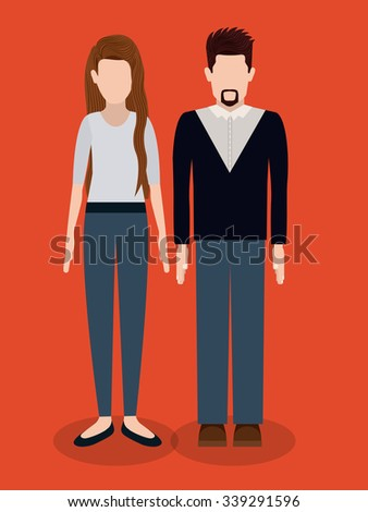 business people design, vector illustration eps10 graphic  - stock vector