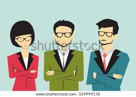 business people group, team concept - stock vector