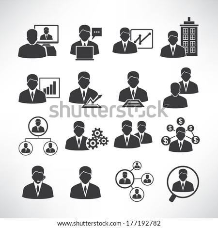 business people icons, business icons - stock vector
