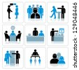 Business People Icons. Vector Set - stock photo