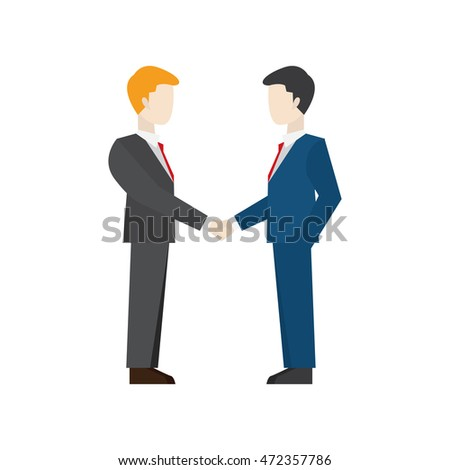 Business people illustration. Business agreement.