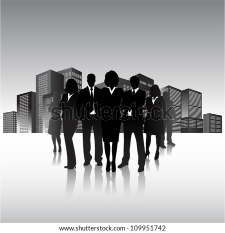 Business people in the city - stock vector