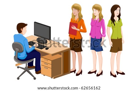 business people isometric series. very  detail vector illustration. - stock vector