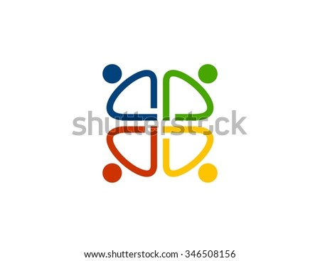 Business people logo - stock vector