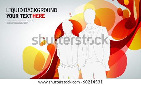 Business people on an abstract background. template - stock vector