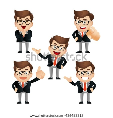 Business people set - stock vector
