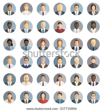 Business People - Set of thirty-six icons - stock vector
