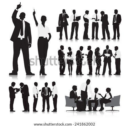 Business People Silhouette Collection - stock vector