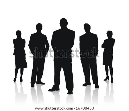 business people team vector illustration