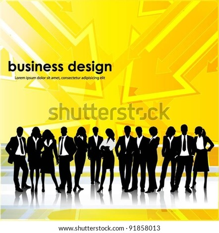 business people team with arrows background vector - stock vector