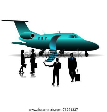 Private Jet Plane Stock Vectors Amp Vector Clip Art  Shutterstock