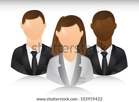 business people with shadow. vector illustration - stock vector