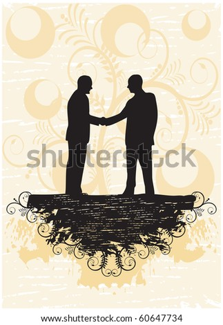 Business peoples in abstract background