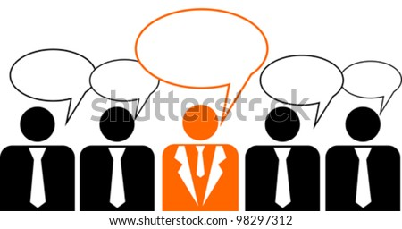 Business peoples, vector illustration