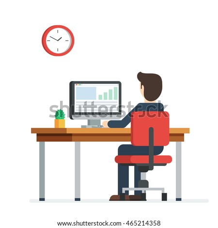 Business person working on computer businessman stock for Design my office online
