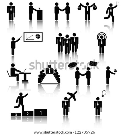 Business pictogram - stock vector