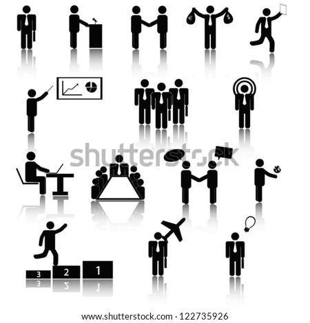 Business pictogram - stock vector