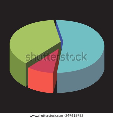 Business Pie chart. Business Diagram, Info Graphic.Vector illustration  - stock vector