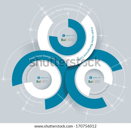 Business pie chart for documents and reports for documents, reports, graph, infographic, business plan, education  - stock vector