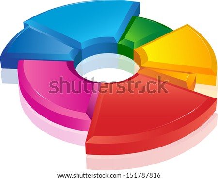 Business pie chart Paper Info graphics. For documents, reports, graph, business plan, education - stock vector