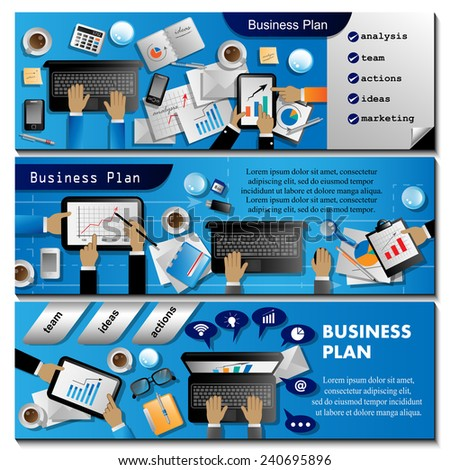 Business Plan, Flyer Template - Vector Illustration, Graphic Design, Editable For Your Design  - stock vector