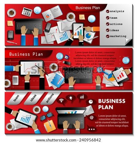 Business Plan Flyer Template Vector Illustration Stock Vector 240695899 Shutterstock