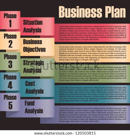 Business plan modern design template presentation stock vector business plan modern design template presentation with letters and numbers for info graphics cheaphphosting Image collections