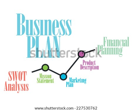 Business plan Timeline, Operations, Financial Planning - stock vector