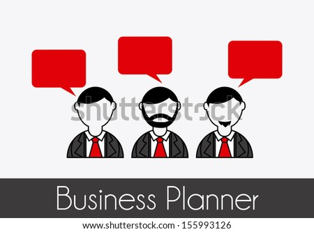 business planner over gray background vector illustration